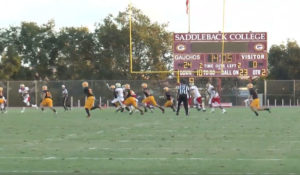 Saddleback College first home football game